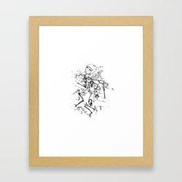 R0B0-H34RT (Robot Heart) Framed Art Print