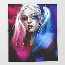 Harley Quinn Throw Blanket