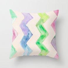California Style Chevron Throw Pillow