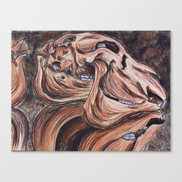 Weremoose Skull Canvas Print