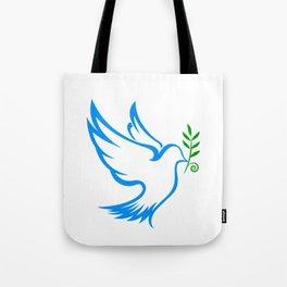 dove symbol draw Tote Bag