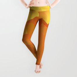 Cubism in orange Leggings