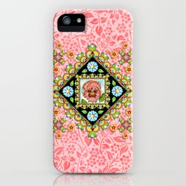 Pink Pansy Cottage iPhone Case