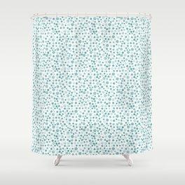Mint Watercolor Dots - Aqua, Teal, Mint, Blue Shower Curtain