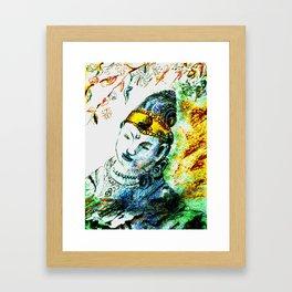 the golden ribbon  Framed Art Print