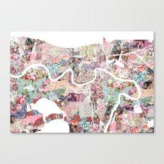 New Orleans map landscape Canvas Print