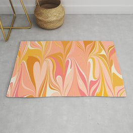 Abstract Marble in Pink Rug