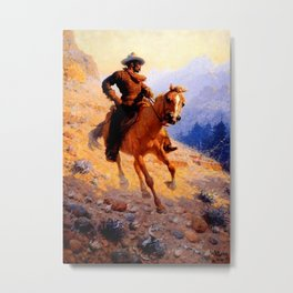 "William Leigh Western Art ""Looking For Strays"" Metal Print"