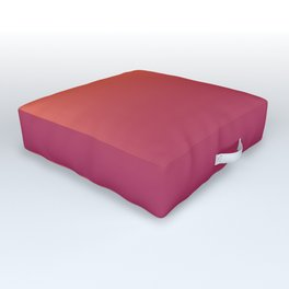 Pantone Living Coral & Vivacious Pink Gradient Ombre Blend Outdoor Floor Cushion