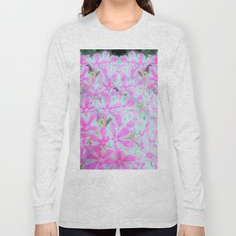 Peppermint Twist Garden Phlox Petals Long Sleeve T-shirt