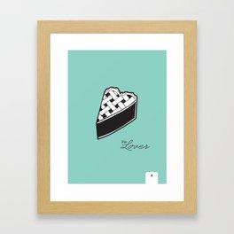 Pie Lover  / Dessert Lover Series Framed Art Print