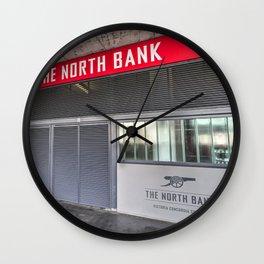 Arsenal FC Emirates Stadium London North Bank Wall Clock