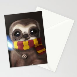 Hairy Potter Sloth Stationery Cards
