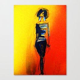Orange Catwalk Canvas Print
