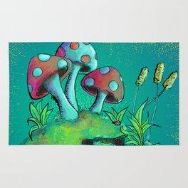 Toadstools & Mushrooms Rug