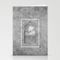 cage Stationery Cards featuring Cloud Cage by Mehdi Elkorchi