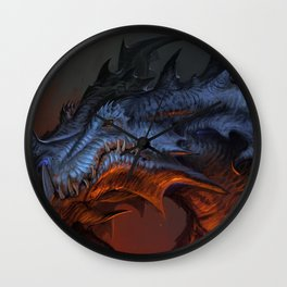 Magnificent Impressive Horned Fairytale Monster Reptile Face UHD  Wall Clock
