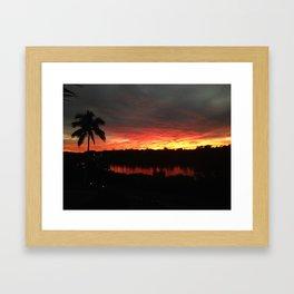 Florida Sunset 1 Framed Art Print