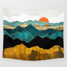 Turquoise Vista Wall Tapestry