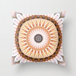 Neutrals Daisy Kaleidoscope Throw Pillow