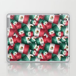 Grunge-Style Mexican Flag Laptop & iPad Skin
