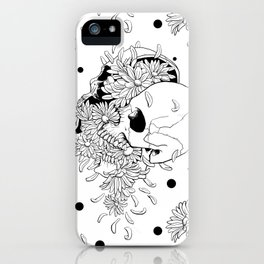 Pushing Up Daisies Spot Pattern iPhone Case