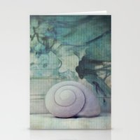 shell Stationery Cards featuring Shell by KunstFabrik_StaticMovement Manu Jobst