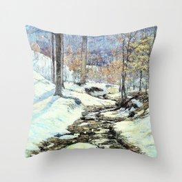 Winter Sunlight - Theodore Clement Steele Throw Pillow