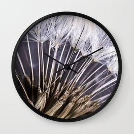Extreme Macro Image of a Dandelion Seed Head Wall Clock