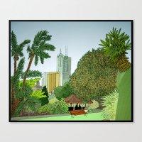 melbourne Canvas Prints featuring Melbourne by Marigold Bartlett