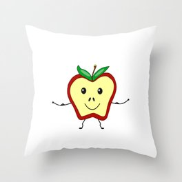 Get Physical Apple - Health And Fitness Throw Pillow