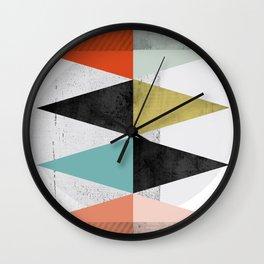 Scandinavian inspired, geometric colour shapes Wall Clock