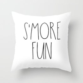 S'MORE FUN TEXT Throw Pillow
