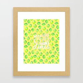 when life gives you limes Framed Art Print