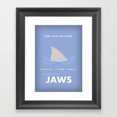 Jaws Framed Art Print