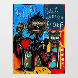 Don't be Evil Street Art Graffiti Poster