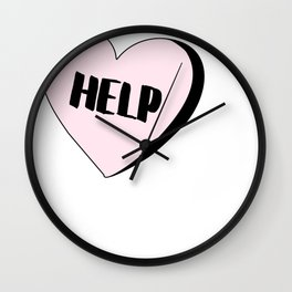 Help Candy Heart Wall Clock
