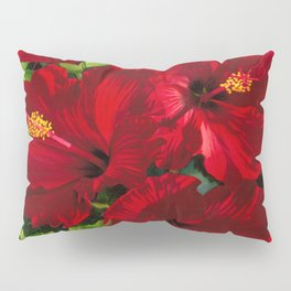 Red Hibiscus 18 Pillow Sham