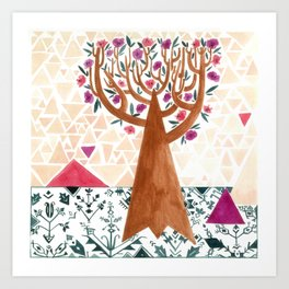 Mysterious tree Art Print