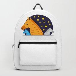 Horse family cool design #society6 #decor #buyart #artprint Backpack