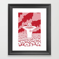 Where is my Mind. Framed Art Print