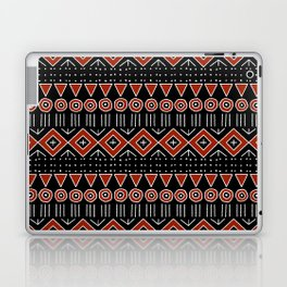 Mudcloth Style 2 in Black and Red Laptop & iPad Skin