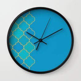 turquoise pond Wall Clock
