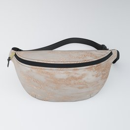 Rose Gold Copper Glitter Metal Foil Style Marble Fanny Pack