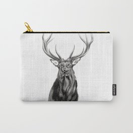 Bull Elk Encounter Carry-All Pouch