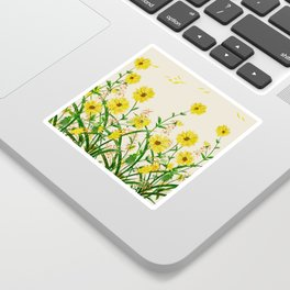 Yellow Wildflowers Sticker