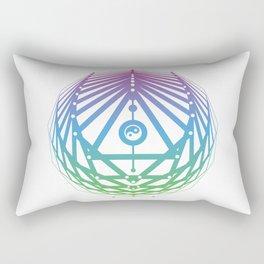 Radiant Abundance (white-cool gradient) Rectangular Pillow