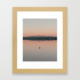 Sunrise droplet reflection in New Mexico Framed Art Print