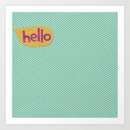 Hello in Yellow Art Print