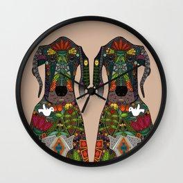 Great Dane love beige Wall Clock